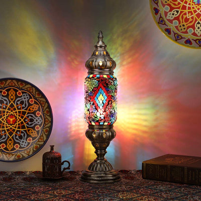 *HANDMADE* Boho Glitter Mosaic Table Lamp *SHIPS ONLY IN US*