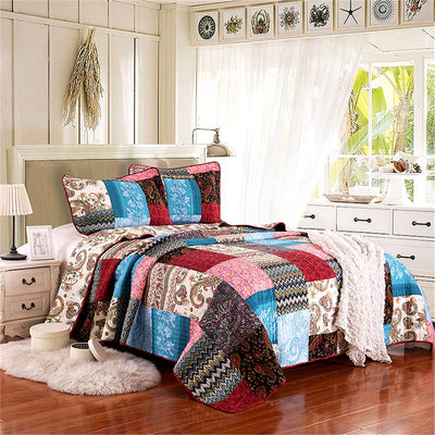 *100% COTTON* Boho Quilting Comforter Set *SHIPS ONLY IN US*