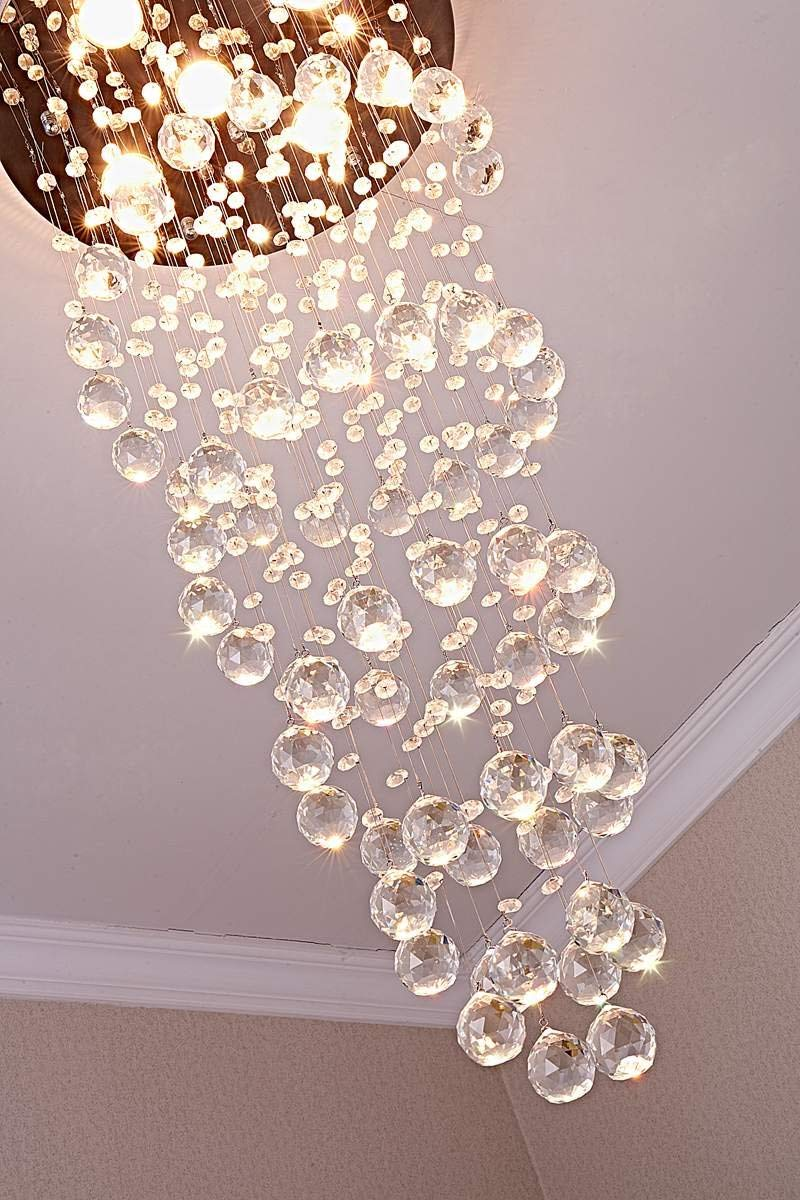 Spiral raindrop chandelier ships only in us