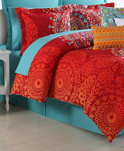 *100% COTTON* Medallion 3Pc Reversible Comforter Set *SHIPS ONLY TO US*
