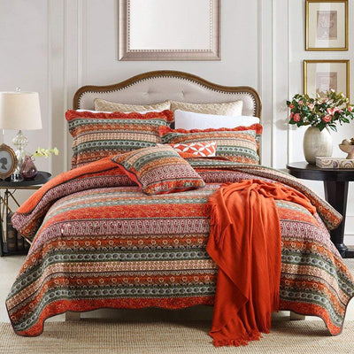 *COTTON* Classical Striped Quilt Set *SHIPS ONLY IN US*