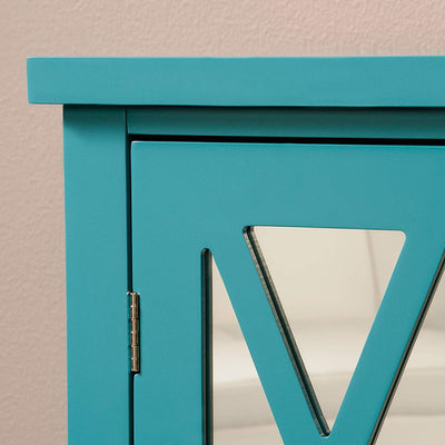 Blue Accent Storage Cabinet *SHIPS ONLY IN US*
