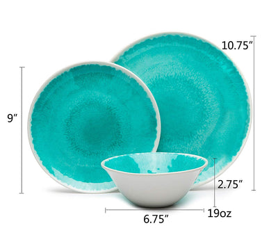 Rustic Turquoise Dinnerware Set *SHIPS ONLY IN US*