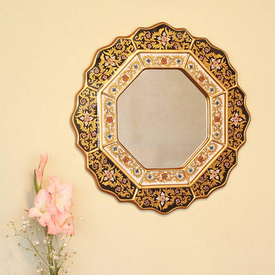 *HAND PAINTED* Reverse Painted Mirror *SHIPS ONLY IN US*
