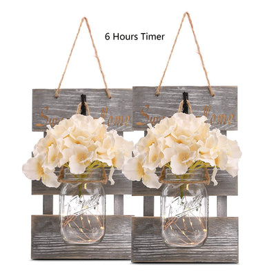 Mason Jar Sconces with Led *SHIPS ONLY IN US*