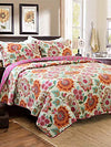 *100% Cotton* 3Pcs Queen Quilt Set *FREE WORLDWIDE SHIPPING*
