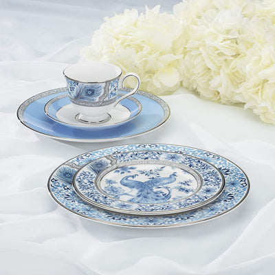 Blue Peacock Dinnerware Set *SHIPS ONLY IN US*
