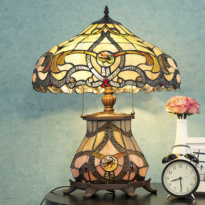 Victorian Stained Glass Lamp *SHIPS ONLY IN USA*
