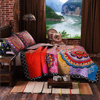 3 Pc's Tropical Boho Dreams Queen Quilt Set *SHIPS ONLY IN US*