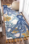 40 *COTTON* Octopus Area Rug *SHIPS ONLY IN US*