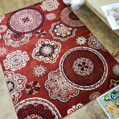 Boho Floral Medallion Area Rug *SHIPS ONLY IN US*
