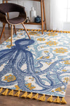 *COTTON* Octopus Area Rug *SHIPS ONLY IN US*