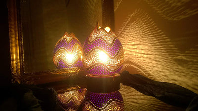 Elegance in Purple - Boho Custom Handmade Light Decor