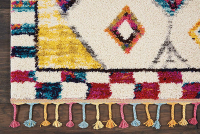 Multi color Shag Rug *SHIPS ONLY IN US*