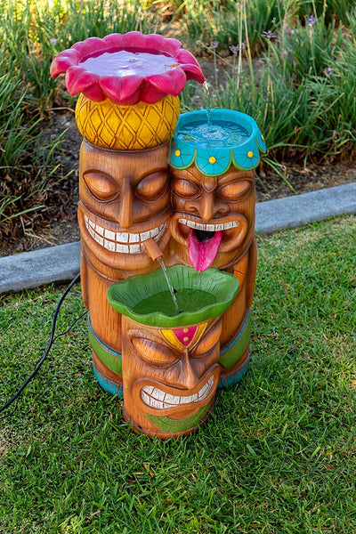 3 Tier Colorful Tiki Fountain *SHIPS ONLY IN US*