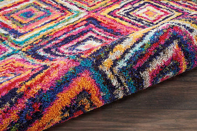 Vibrant Moroccan Rug with Tassel *SHIPS ONLY TO USA*