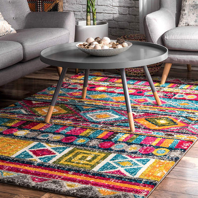Boho Retro Tribal Rug *SHIPS ONLY IN US*