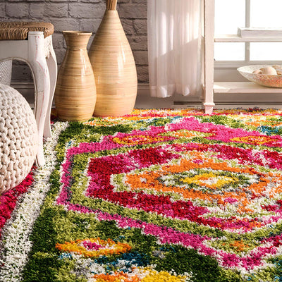 Colorful Shag Tassel Rug *SHIP ONLY TO US*