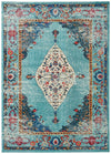 Colorful Distressed Medallion Area Rug *SHIPS ONLY IN US*