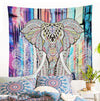 Colored Elephant Tapestry