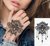 Boho Owl Waterproof Temporary Tattoo