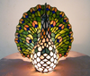 Peacock Tiffany Led Desk Lamp *WORLDWIDE FREE SHIPPING*