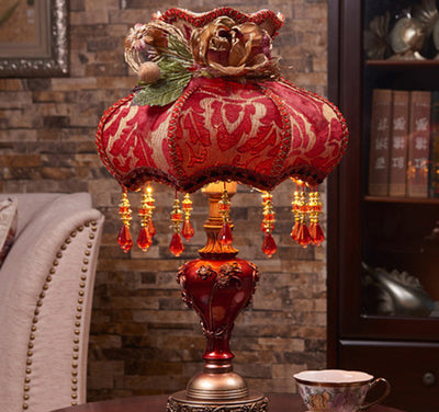 20 Vintage Rose Table Lamp