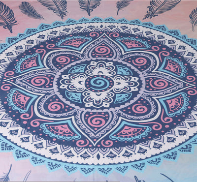 Mandala Pink and Blue Duvet Cover Set *Free Delivery*