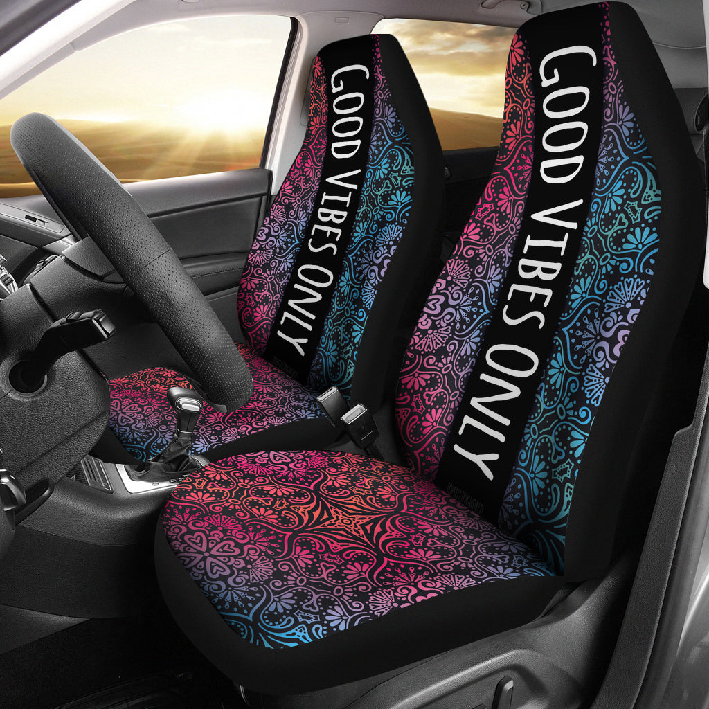 Stupendous Good Vibes Car Seat Cover Free Express Line Delivery Andrewgaddart Wooden Chair Designs For Living Room Andrewgaddartcom