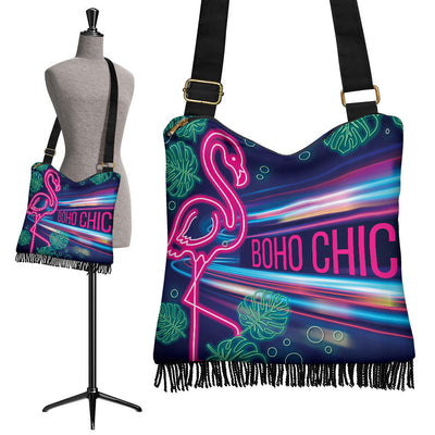 BohoChic's Neon Tassel Bag *WORLDWIDE FREE SHIPPING*