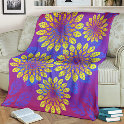*HAND CRAFTED* Purple Leaf Premium Blanket *WORLDWIDE FREE SHIPPING*