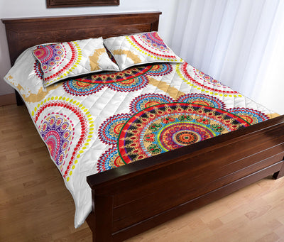 Colorful Floral Medallion Quilt Set *WORLDWIDE FREE SHIPPING*