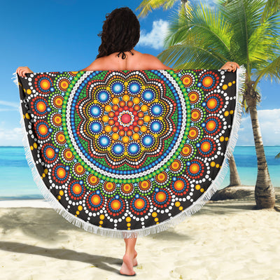Colorful Dot Bloom Beach Blanket *WORLDWIDE FREE SHIPPING*