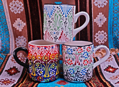*HANDMADE* 1Pc Modern Boho Mug *WORLDWIDE FREE SHIPPING*