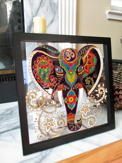 *MADE TO ORDER* Elephant Glass Wall Decor *FREE SHIPPING*