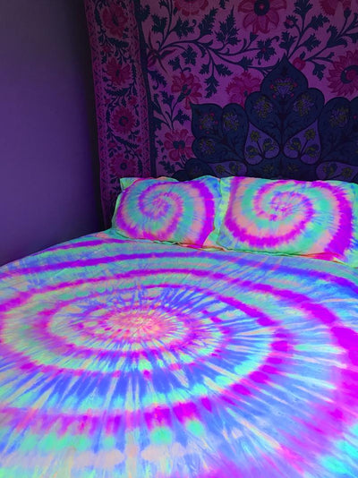 *100% COTTON* Hippie Neon Active Sheet Set *WORLDWIDE FREE SHIPPING*