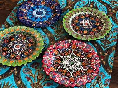 *HANDMADE*  Marvelous 4 in 1 Boho Plate's *WORLDWIDE FREE SHIPPING*