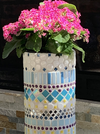 *HANDMADE* Mosaic Planter *SHIPS ONLY IN US*