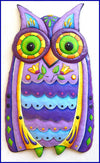 *HANDMADE* Colorful Happy Owl Metal Wall Art *SHIPS ONLY IN US*