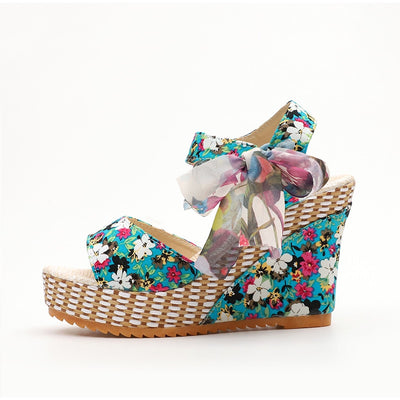 Boho Bowknot Wedge Sandals *FREE WORLDWIDE SHIPPING*