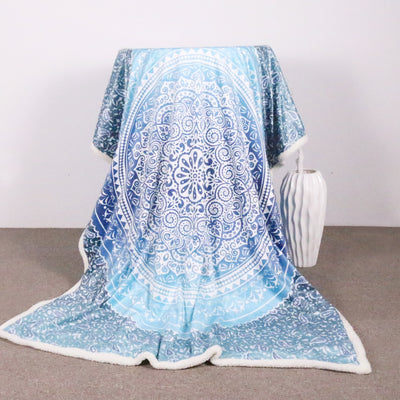 Sea Mandala Velvet Sherpa Throw Blanket *FREE DELIVERY*