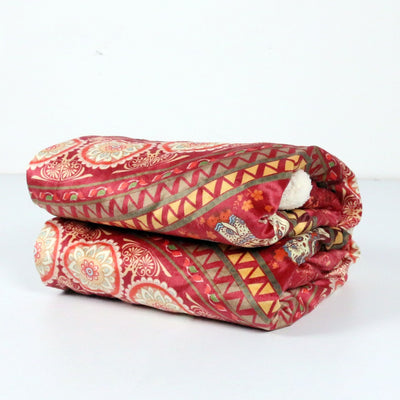 Red Indian Elephant Sherpa Throw Blanket *FREE DELIVERY*