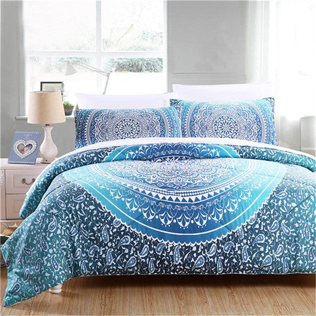 Ombre Mandala Comforter Set - 3Pcs In Queen Size *FREE SHIPPING*