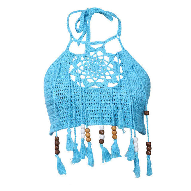 Bohemian Dream Catcher Crop Top