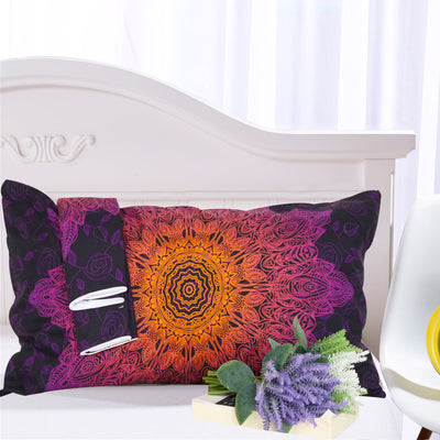 Bohemian Purple Flower Duvet Cover 3Pcs - *FREE SHIPPING*