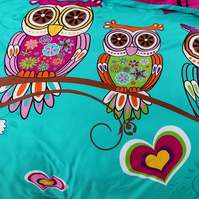 100% Cotton - Colorful Boho Owl bedding *FREE SHIPPING*