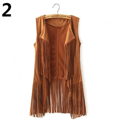 Boho Fringe Suede Jacket *FREE WORLDWIDE SHIPPING*