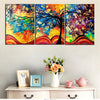 Abstract Life Of A Tree - 3 Panel Canvas *FREE SHIPPING*