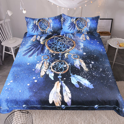 Blue Feather Dreamcatcher Bedding Set *FREE SHIPPING*