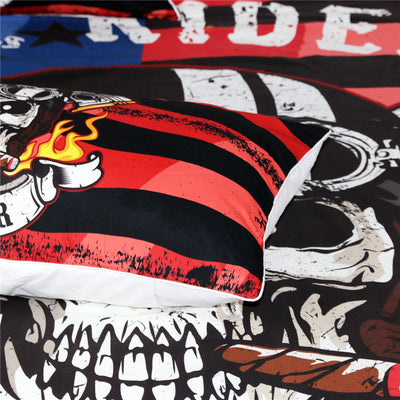 Hell Riders Chopper Skull Bedding Set *FREE SHIPPING*